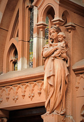 sculpture of the Virgin