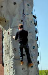 kletternb an der kunstwand, freeclimbing
