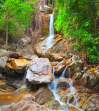 Fototapety beautiful cascade waterfall, koh Samui, Thailand