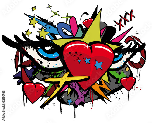 Love Heart Drawn In Paint Net Pictures to pin on Pinterest