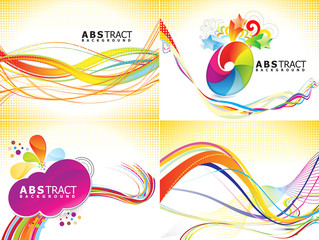 abstract colorful multiple background set