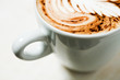Latte Art - Detail - Farnblatt