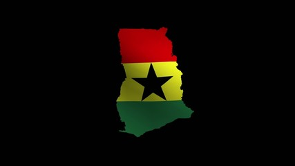 Waving Map-ShapedGhana  national
