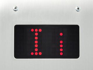 monitor show alphabet i in elevator