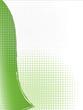 grüner Hintergrund Welle Vektor