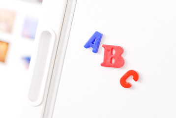 ABC Magnets on Fridge
