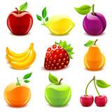 Fototapety Glossy fruit set