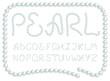 Pearl alphabet - 32159395