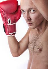 Portrait of confident boxer