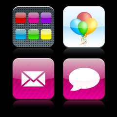 Square high-detailed apps icons.