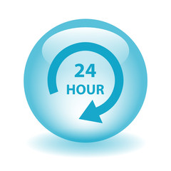 """24 HOUR"" Button (customer service contact us support hotline)"