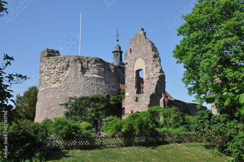 Leinwanddruck Bild Burg Hayn in Dreieichenhain