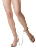 Handcuffed female legs
