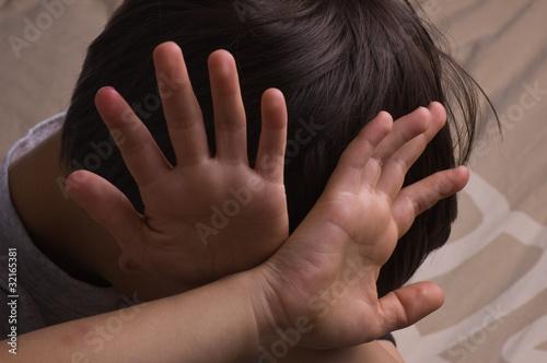 Leinwanddruck Bild Child abuse