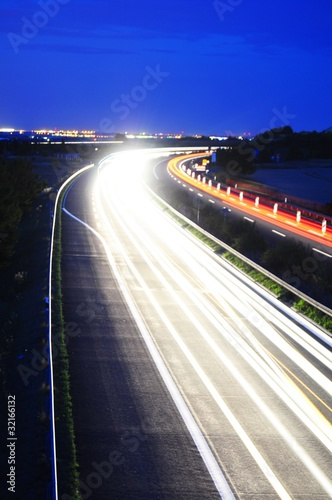 night traffic on highway