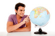 Man with a globe