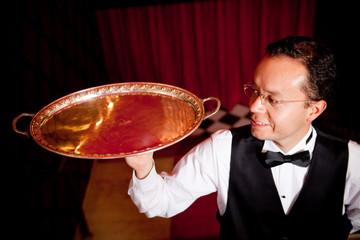 Waiter with a trey