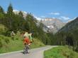 Radfahrer mit MTB im Oytal