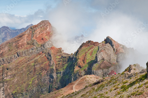 moutain near pico do arieiro on madeira island, portugal