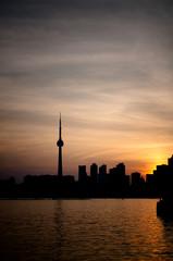 Toronto Harbor at Sunset