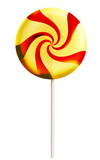 Lollipop candy red and yellow