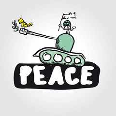 Vector peace concept symbol anti-war
