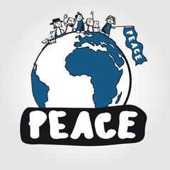 Vector peace concept symbol anti-war