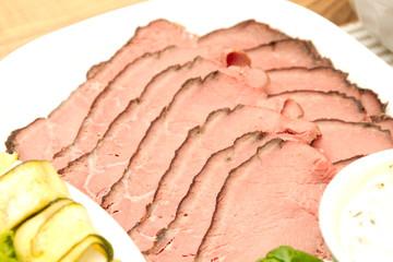 Roastbeef geschnitten