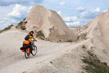 Biking in Cappadocia.