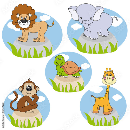 Animales. vector editable con fondo blanco