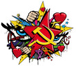 Graffiti Communisme Pop art illustration