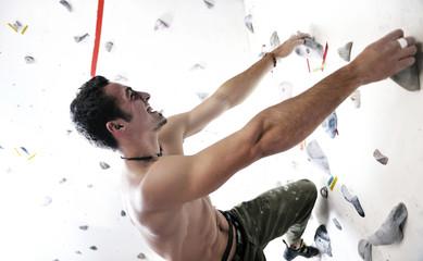 man exercise sport climbing