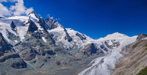 Glacier on Grossglockner. Austria. Panorama
