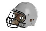 Gray Football Helmet