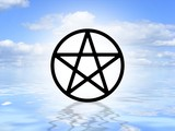 Pagan symbol on water poster