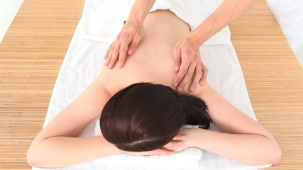 Brunette having a massage