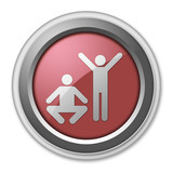 "Red 3D Style Button ""Exercise / Fitness"""