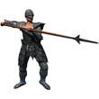 Armoured Spearman,  3D render illustration
