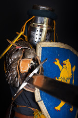 Crusader during battle