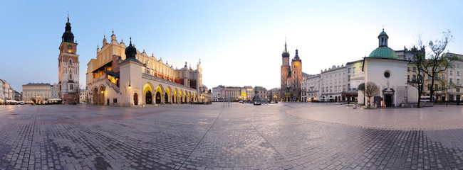 City square in Kraków, Poland