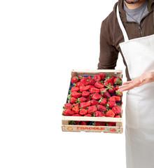 Fruttivendolo con fragole