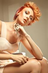 Redhead beauty posing