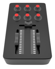 DJ mixer isolated on white backgrouns