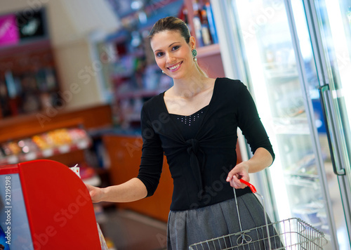 woman shoping in store