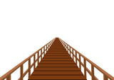 Wooden bridge with a handrail poster