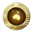 Award Globe – Australia with Olive Branch Wreath