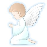 Prima Comunione Angelo-First Communion Angel-Vector