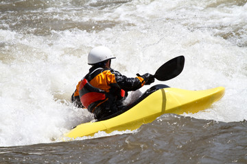 kayaker, freestyle competition