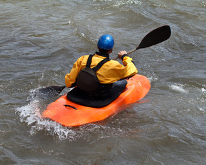 man in kayak