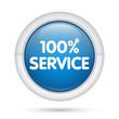 3D_100% Service_blu